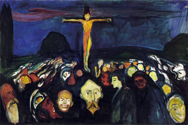 Golgotha Painting - Golgotha by Edvard Munch