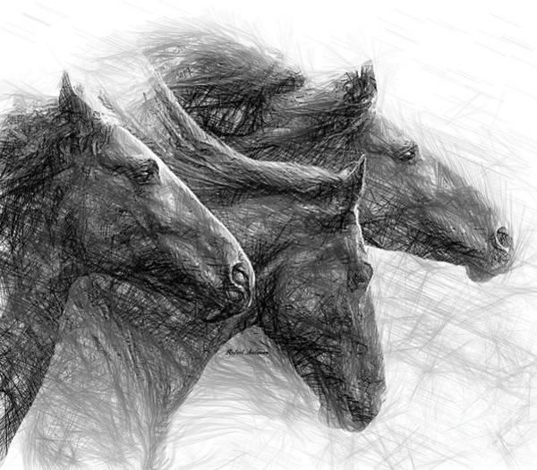 Digital Art - Gomer, Tease And Hazel by Rafael Salazar