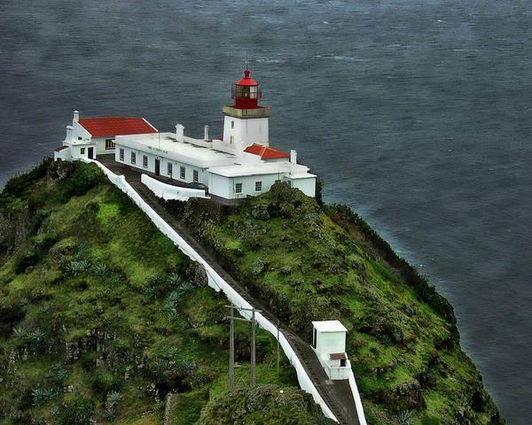 Photograph - Goncalo Velho Lighthouse by Anthony Dezenzio