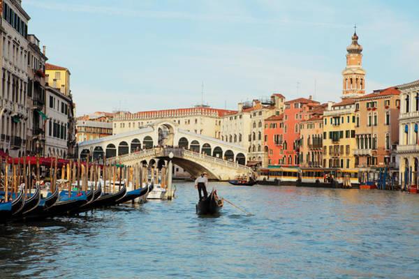 Gondola At The Rialto Art Print