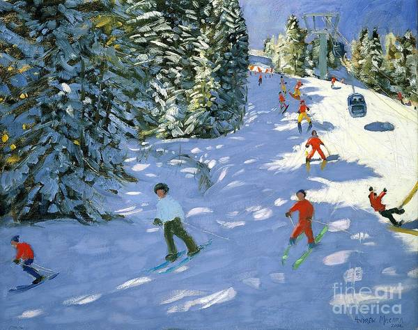 Atmospheric Painting - Gondola Austrian Alps by Andrew macara