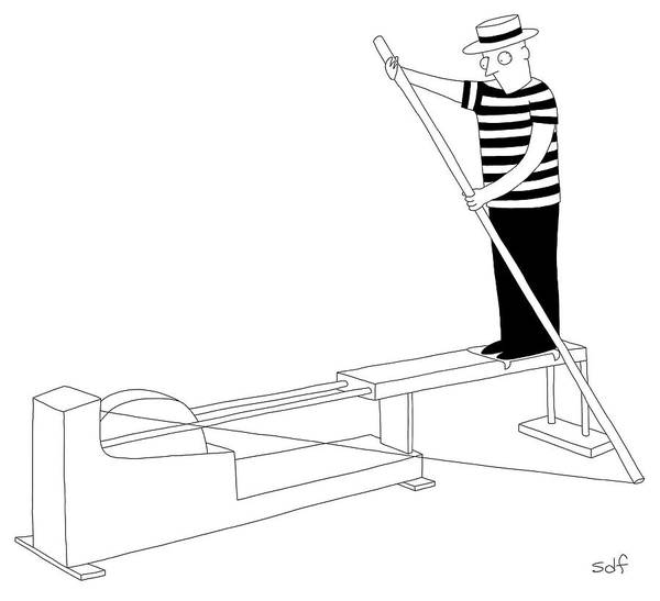 Rowing Drawing - Gondola Machine by Seth Fleishman