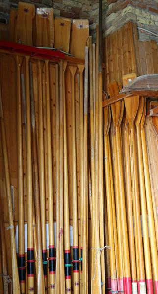 Photograph - Gondola Oars by Andrew Fare