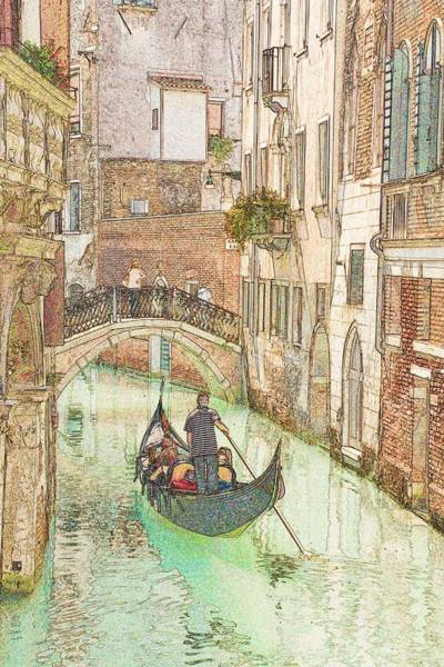 Wall Art - Photograph - Gondola On Canal In Venice by Michael Henderson