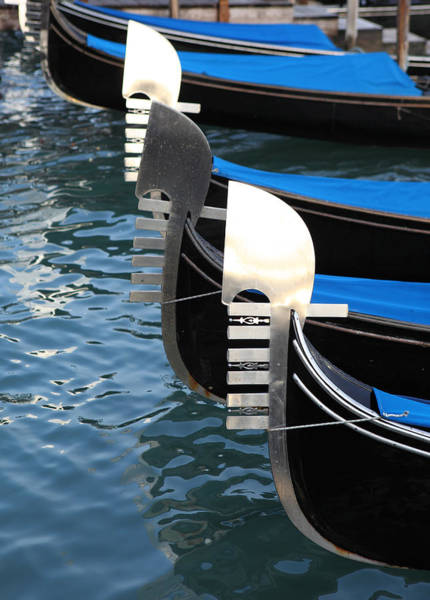 Photograph - Gondola Prows by Paul Cowan