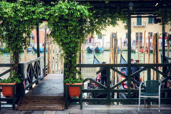Photograph - Gondola Station In Venice, Italy by Fine Art Photography Prints By Eduardo Accorinti