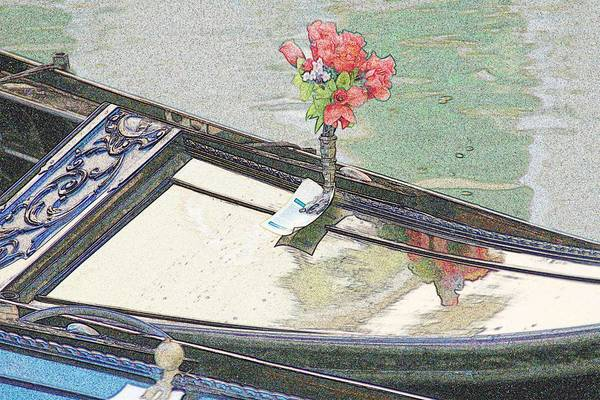 Wall Art - Photograph - Gondola With Roses by Michael Henderson
