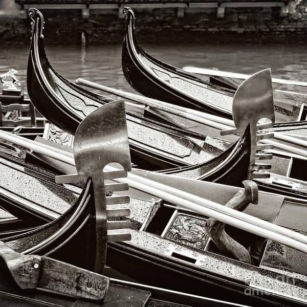 Wall Art - Photograph - Gondolas Crossing by Delphimages Photo Creations