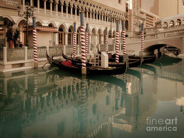 Photograph - Gondolas by Franz Zarda