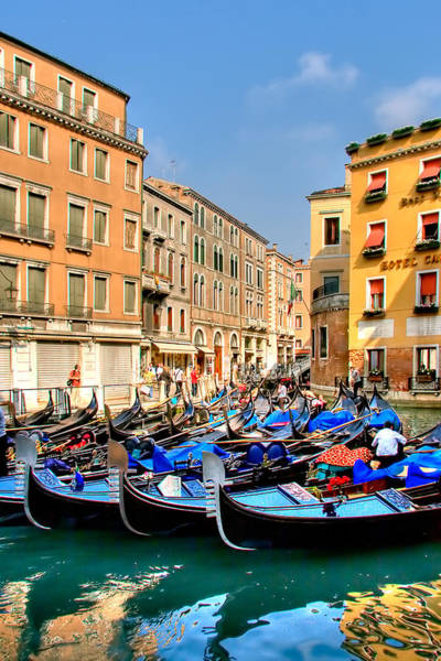 Gondola Photograph - Gondolas In The Square by Peter Tellone