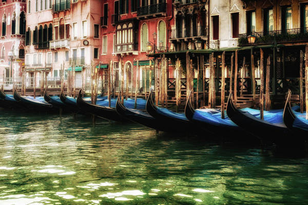 Photograph - Gondolas In Venice by M G Whittingham