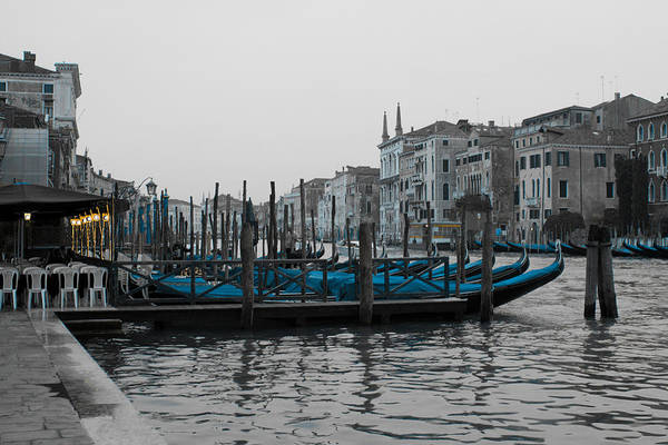 Wall Art - Photograph - Gondolas On Grand Canal In Venice by Michael Henderson