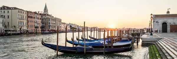 Tramonto Photograph - Gondolas Sunrise 00323 by Marco Missiaja