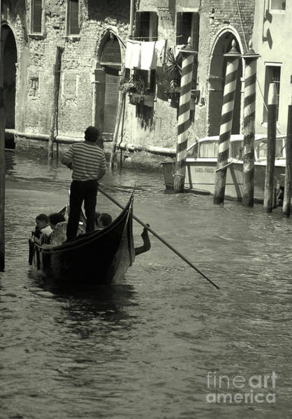 Photograph - Gondolier In Venice   by Frank Stallone