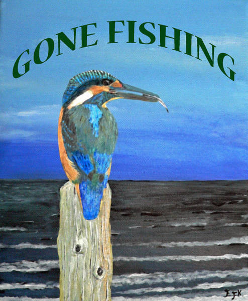 Painting - Gone  Fishing by Eric Kempson