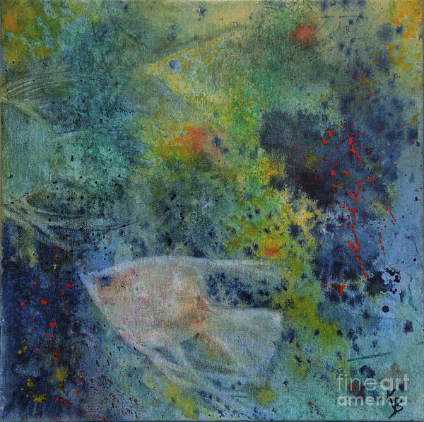 Painting - Gone Fishing by Karen Fleschler