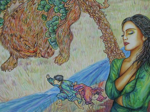 Gone Art Print by Joseph Lawrence Vasile