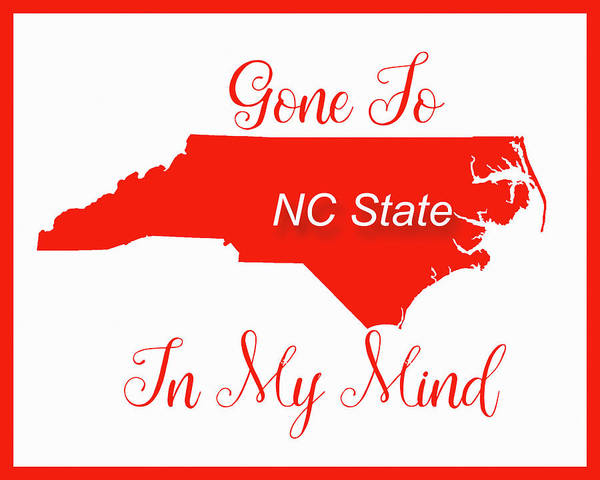 Digital Art - Gone To Nc State by Paulette B Wright