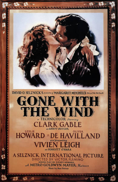 Wall Art - Mixed Media - Gone With The Wind 1939 by Mountain Dreams