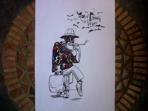 Screenprinting Painting - Gonzo  by Carlos Eduardo Perez Del Moro
