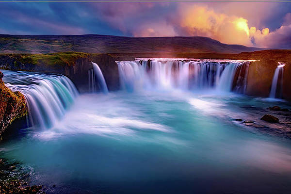 Photograph - Gooafoss Falls by Movie Poster Prints