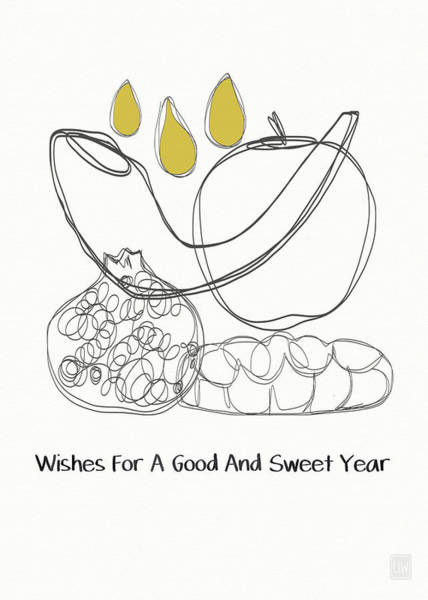 News Mixed Media - Good And Sweet Year- Art By Linda Woods by Linda Woods