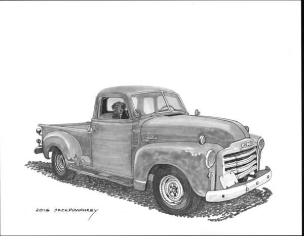 Old Truck Drawing - Good Buddies by Jack Pumphrey