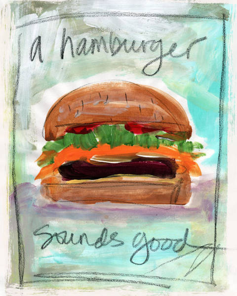 Diner Wall Art - Painting - Good Burger by Linda Woods