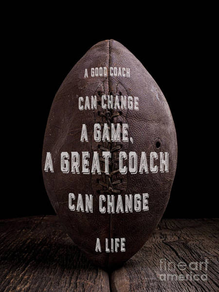 Photograph - Good Coach Old Football by Edward Fielding