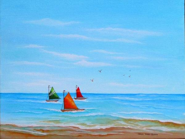 Wall Art - Painting - Good Day For Sailing by Carol Sabo