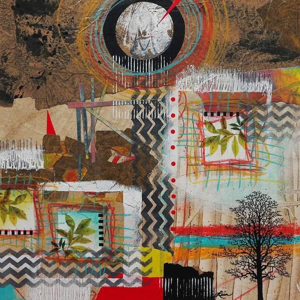 Triangle Mixed Media - Good Energy  by Laura Lein-Svencner