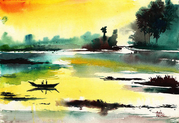 Painting - Good Evening 1 by Anil Nene