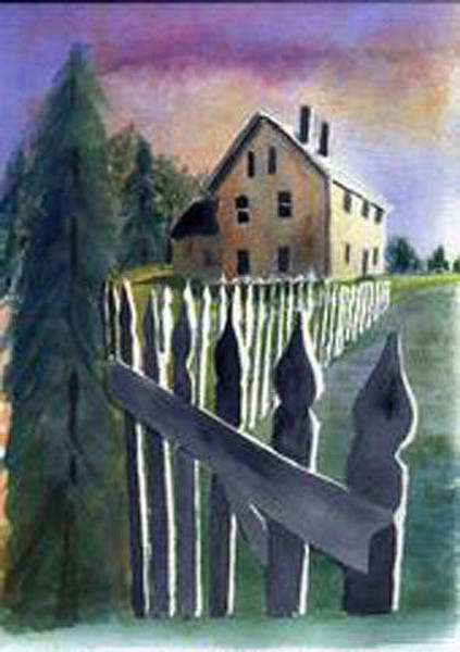 Painting - Good Fences................. by Jane Croteau