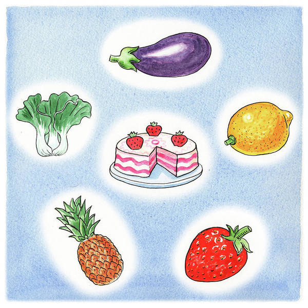 Wall Art - Painting - Good Food by Irina Sztukowski