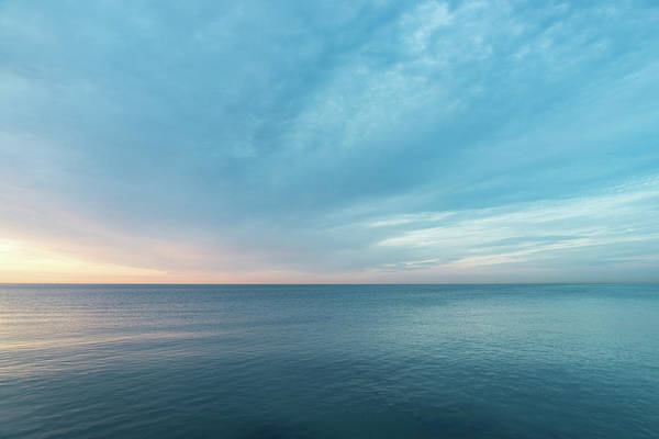 Photograph - Good For The Soul - Turquoise Blues And Coral Pinks At Dawn by Georgia Mizuleva