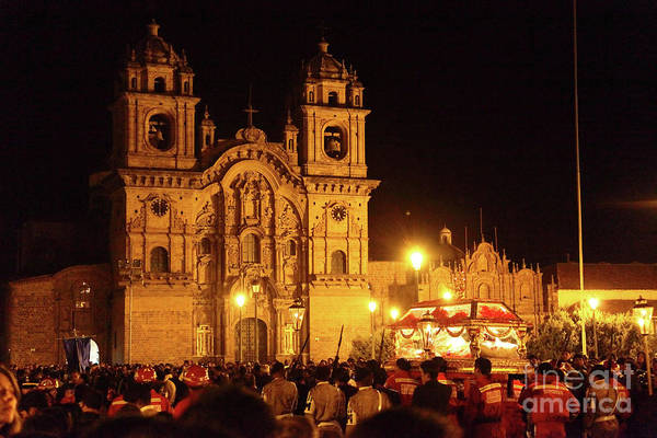 Photograph - Good Friday In Cusco by James Brunker
