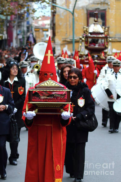 Photograph - Good Friday Processions La Paz Bolivia by James Brunker
