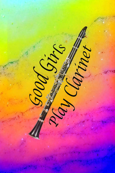 Photograph - Good Girls Play Clarinet 5028.02 by M K Miller