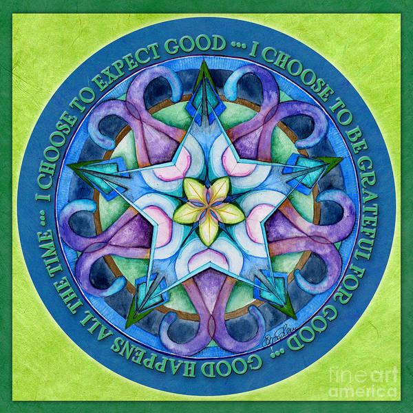 Painting - Good Happens Mandala Prayer by Jo Thomas Blaine