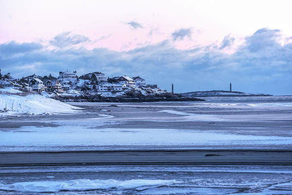 Photograph - Good Harbor Beach And Thacher Island Covered In Snow Gloucester Ma by Toby McGuire