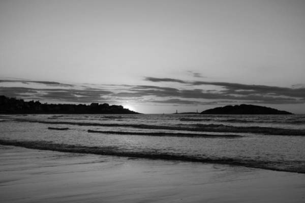 Photograph - Good Harbor Beach At Sunrise Gloucester Ma Black And White by Toby McGuire