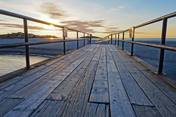 Photograph - Good Harbor Beach Footbridge by Toby McGuire