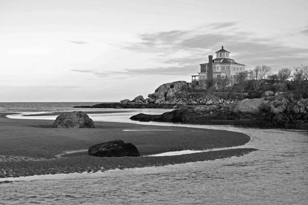 Photograph - Good Harbor Beach Gloucester Ma Black And White by Toby McGuire
