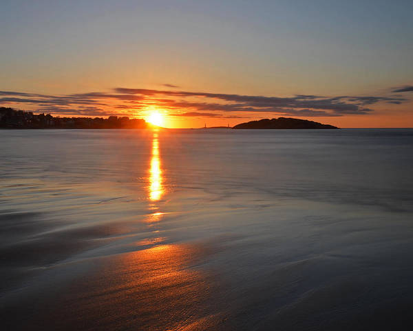 Photograph - Good Harbor Beach Sunrise by Toby McGuire