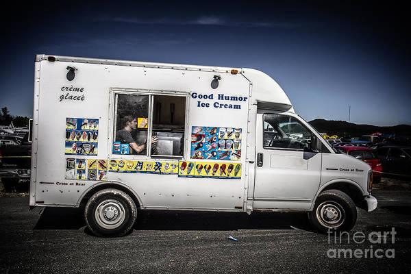 Wall Art - Photograph - Good Humor Ice Cream Truck by Edward Fielding