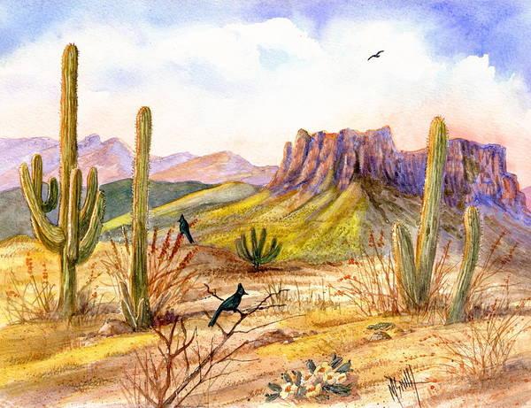 Smith Rock Painting - Good Morning Arizona by Marilyn Smith