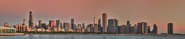 Photograph - Good Morning Chicago Panorama by Sebastian Musial