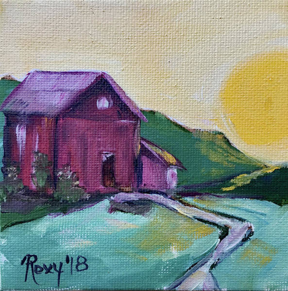 Contemporary Painting - Good Morning Countryside by Roxy Rich