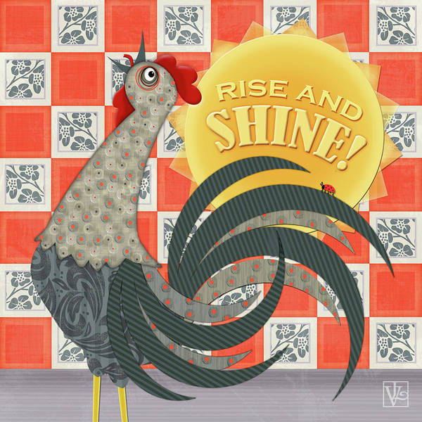 Good Morning Rooster Art Print