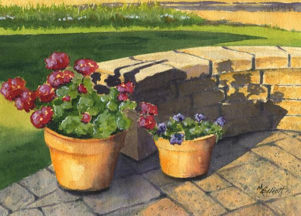Geranium Wall Art - Painting - Good Morning Sunshine by Marsha Elliott